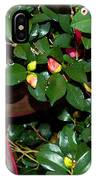 Green Leafs And Pink Flower IPhone Case