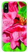 Green Leafs Of Pink IPhone Case