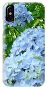 Green Nature Landscape Art Prints Blue Hydrangeas Flowers IPhone Case