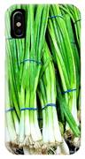 Green Onions IPhone Case