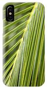 Green Palm Leaf IPhone Case