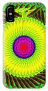 Green Parrot Mandala IPhone Case