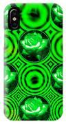 Green Polka Dot Roses Fractal IPhone Case