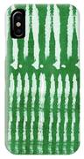 Green Shibori 1- Art By Linda Woods IPhone Case by Linda Woods