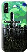 Green Sky Cross IPhone Case