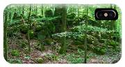 Green Stony Forest In Vogelsberg IPhone Case