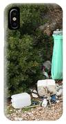 Green Trash Bag And Rubbish In Croatia IPhone Case
