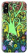Green Tree With Purple Tulips IPhone Case