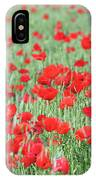Green Wheat With Poppy Flowers IPhone Case