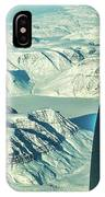 Greenland From Flight Level 380 IPhone Case