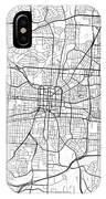 Greensboro North Carolina Usa Light Map IPhone Case