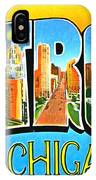 Greetings From Detroit Michigan IPhone Case