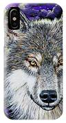Grey Wolf And Full Moon IPhone Case