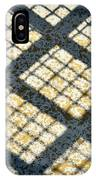 Grid Shadow On Concrete IPhone Case