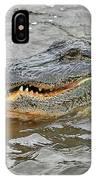 Grinning Gator IPhone Case