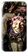 Grinning Mardi Gras Jester IPhone Case