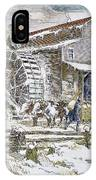 Grist Mill, 19th Century IPhone Case