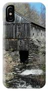 Grist Mill At Moore State Park IPhone Case