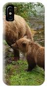 Grizzly Dinner For Two IPhone Case