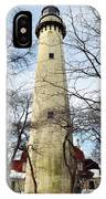 Grosse Point Lighthouse Winter IPhone Case