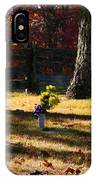 Groundhog Hill Cemetery IPhone Case