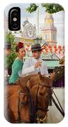 Group Of Couples On Horseback Drinking And Partying At The Sevil IPhone Case