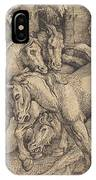Group Of Seven Horses In Woods IPhone Case