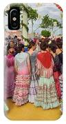 Group Of Young Female Students Dressed In Flamenco Dresses At Th IPhone Case