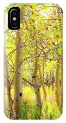 Grove Of Aspens On An Autumn Day IPhone Case