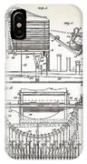 Grundy Typewriter Patent 1889 IPhone Case