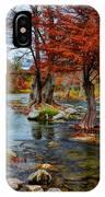 Guadalupe River In Autumn IPhone Case