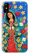 Guadalupe With Stars IPhone Case