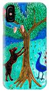 Guard Dog And Guard Peacock  IPhone Case