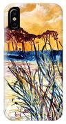 Gulf Coast Seascape Tropical Art Print IPhone Case