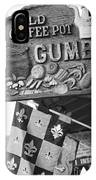 Gumbo Sign - Black And White IPhone Case