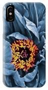 Gunmetal Peony IPhone Case