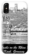 Gutenfels Castle On The Rhine, Kaub, Germany, 1903, Vintage Phot IPhone Case
