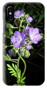 Hairy Phacella Wildflowe IPhone Case