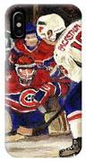 Halak Blocks Backstrom In Stanley Cup Playoffs 2010 IPhone Case