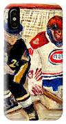 Halak Catches The Puck Stanley Cup Playoffs 2010 IPhone Case
