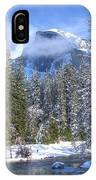Half Dome And The Merced River IPhone Case