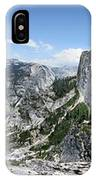 Half Dome And Yosemite Valley From The Diving Board - Yosemite Valley IPhone Case