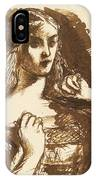 Half-length Sketch Of A Young Woman IPhone Case