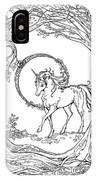 Haloed Unicorn In The Woods IPhone Case