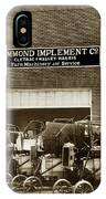 Hammond Implement Company Farm Machinery 1924 IPhone Case