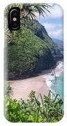 Hanakapiai Beach - Kalalau Trail - Kauai Hawaii IPhone Case