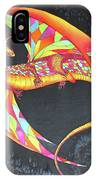 Hand Painted Silk Scarf Dragon On Black IPhone Case
