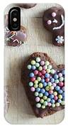 Handmade Decorated Gingerbread Heart And People Figures IPhone Case