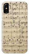 Handwritten Score IPhone Case
