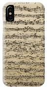 Handwritten Score For Mass In B Minor IPhone Case
